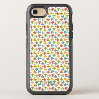 Cutey buntes Pilz-Muster OtterBox Symmetry iPhone 8/7 Hülle