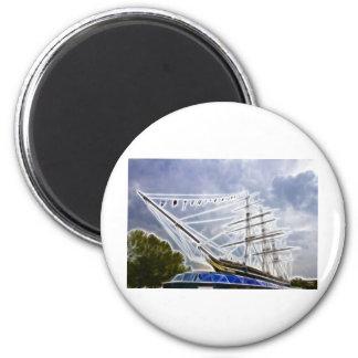 Cutty Sark Greenwich Fraktale Runder Magnet 5,1 Cm