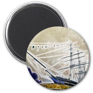 Cutty Sark Greenwich Fraktale Runder Magnet 5,7 Cm