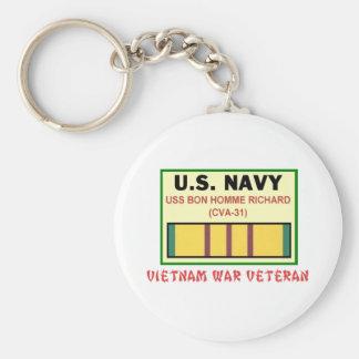 CVA-31 BON HOMME RICHARD Vietnam Tierarzt Standard Runder Schlüsselanhänger