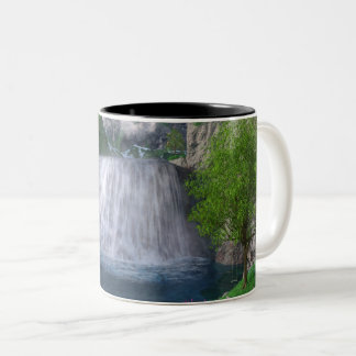 Cwm Wasserfall-Tasse Zweifarbige Tasse