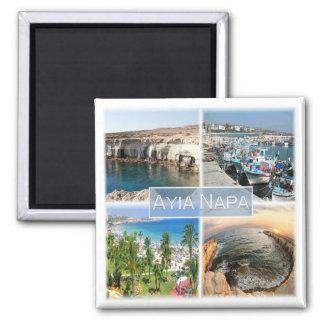 CY * Zypern - Agia Napa Quadratischer Magnet