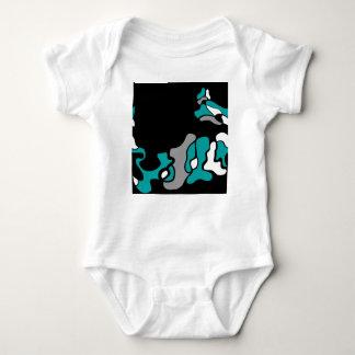 Cyan-blaue Kreativität Baby Strampler