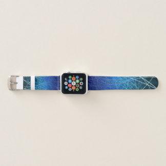 Cyan-blaue lineare Explosion - Apple-Uhrenarmband Apple Watch Armband