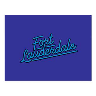 cyan-blaues Fort Lauderdale Postkarte