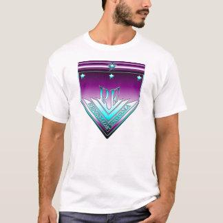 Cyan-blaues und lila abtrünniges T-Shirt