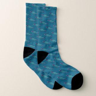Cyanotic Lachse Socken