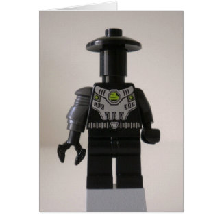 Cyber Droid Schatten-Soldat-Gewohnheit Minifigure Karte