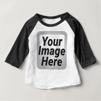 Cyber-gelber abstrakter niedriger baby t-shirt