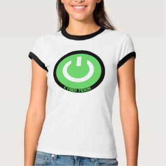 Cyber-Giftstoff-Grünlogowecker T-Shirt