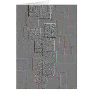 """""""Cyber-gotische"""" geometrische Kunst Karte"""
