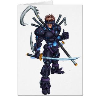 Cyber Ninja Grußkarte