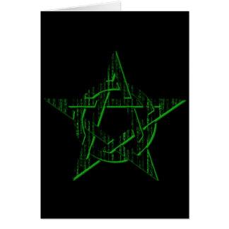 Cyber-Pentagramm TechnoPagan Karte