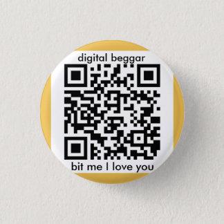 Cyber Punkbitcoin Abzeichen Runder Button 3,2 Cm