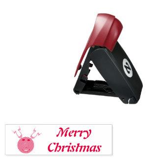 Cyber-Weihnachtsren-kundenspezifische Taschenstempel
