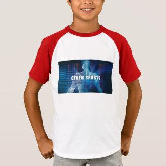 Cybersport als futuristisches Konzept abstrakt T-Shirt
