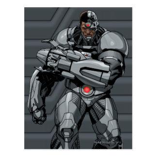 Cyborg Postkarte
