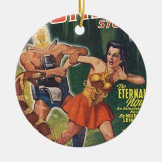 Cyborg und Schlange Keramik Ornament