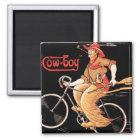 """Zyklen Tnomed """"der Cowboy-"""" Fahrrad Quadratischer Magnet"""