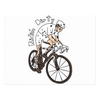 Cyclocross Reiter-Reiten schmutzig Postkarte