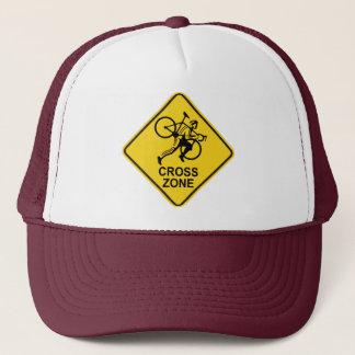Cyclocross Zonen-Verkehrsschild Truckerkappe