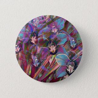 Cymbidium-Orchideen-Karneval Runder Button 5,7 Cm