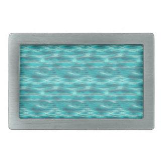 Cyrstal blaues Strand-Wasser Rechteckige Gürtelschnalle