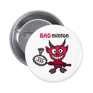 CZ, Teufel, der Badminton-Cartoon spielt Runder Button 5,1 Cm