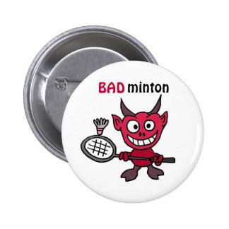 CZ, Teufel, der Badminton-Cartoon spielt Runder Button 5,1 Cm