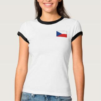 Czechia Flagge + Karten-T - Shirt