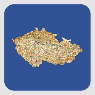 Czechia Karten-Aufkleber Quadratischer Aufkleber