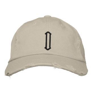 D1 beunruhigte Kappe Bestickte Mütze