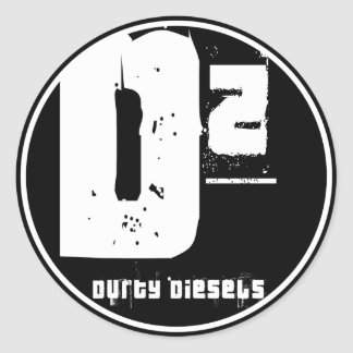 D2 Durty Diesel-Aufkleber Runder Aufkleber