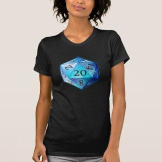 D&D d20 blaues und schwarzes KOBALT die T-Shirt