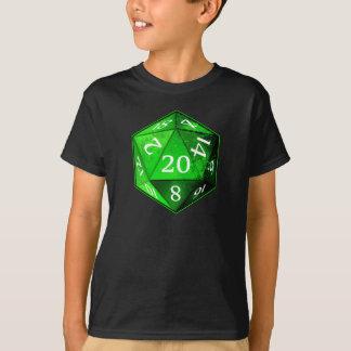 D&D d20 grüner und weißer SMARAGD die T-Shirt