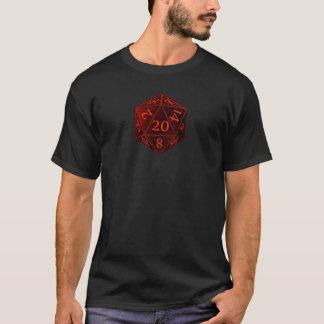 D&D d20 schwarzes und rotes CHAOS die T-Shirt