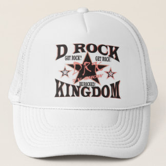 D-Felsen-Königreich-Hutweiß Truckerkappe