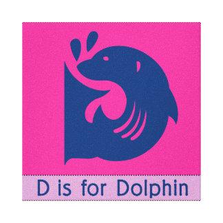 D ist für Delphin Leinwanddrucke