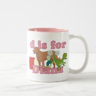 D ist für Diana Zweifarbige Tasse