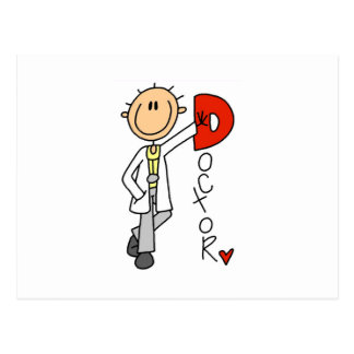 D ist für Doktor Postkarte