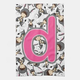 D ist für Esel-Mädchen Handtuch
