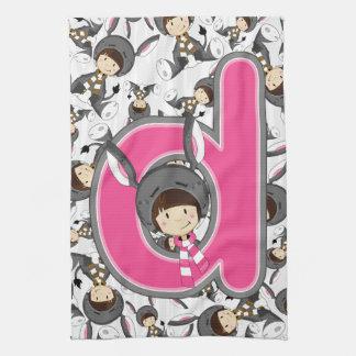 D ist für Esel-Mädchen Küchentuch