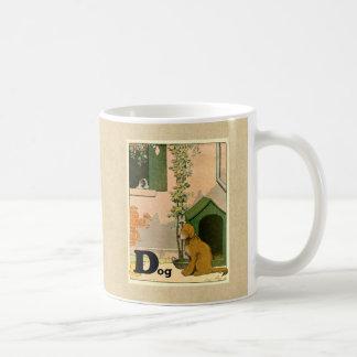 D ist für Hund - golden retriever und Terrier Kaffeetasse