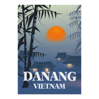 Da Nang-Vietnam-Reiseplakat Poster