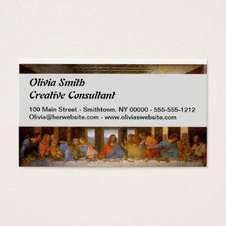 Da Vinci das letzte Abendessen Visitenkarten
