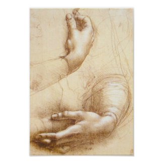 Da Vinci-Handplakat Poster