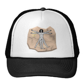 Da Vinci-Mann auf Stein Trucker Kappe