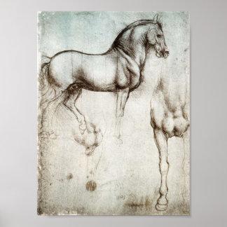 Da Vinci-Pferdeplakat Posterdrucke