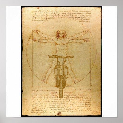 Da Vinci-Schmutz-FahrradMotocross Supercross Freis Plakatdrucke