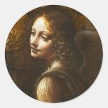 Da Vinci Virgin of the Rocks Angel Stickers
